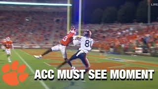 Clemson DB Andrew Booth With A 1-Handed Interception