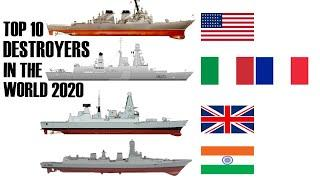 Top 10 Most Powerful Destroyers in the World | 2020