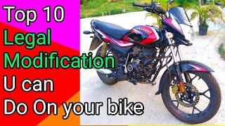 Top 10 Legal Modifications You can do on Your Bike.| 10  Legal modification kisi vi bike k lia.