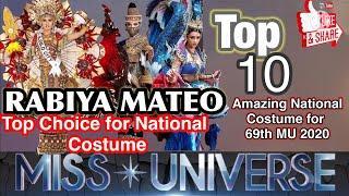 Top 10 Amazing National Costume 69th Miss Universe 2020 | Rabiya Stunning is her National Costume