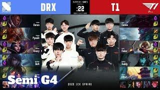 T1 vs DRX - Game 4   Semi Finals Playoffs S10 LCK Spring 2020   T1 vs DragonX G4