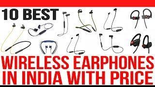 Top 10 Best Wireless Bluetooth Earphones in India with Price | Best wireless in Ear Headphones 2020