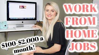 10 BEST WORK FROM HOME JOBS 2020 | WORK FROM HOME JOBS NO EXPERIENCE