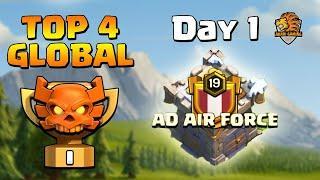 AD AIR FORCE CLAN VIỆT NAM TOP 4 THẾ GIỚI Clash of clans ĐÁNH NTN | AAF TOP 4 CWL MAR 2020 - Day 1