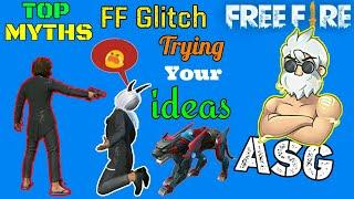 Top 10 Myths Free Fire || Top 10 New Tricks In Free Fire || FF New Bugs || New Glitches In FF | No.1
