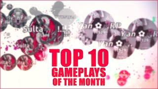 TOP 10 Gameplays of the Month !! | August | Agar.io Raga