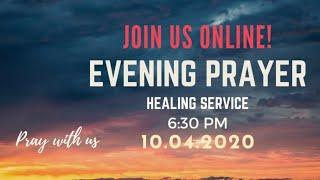 Evening Prayer | Healing Service | Mrs. Getzial Mohan | 10-Apr-2020