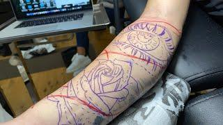 LIVE TATTOO: EYE & ROSE