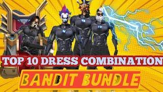 TOP 10 BEST COMBINATION FOR BANDIT BUNDLE IN FREEFIRE