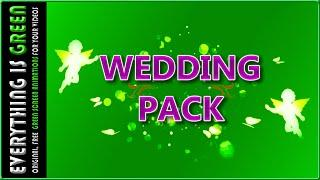 Wedding pack love angel Green Screen after effects Premiere pro Chroma Key Royalty Free