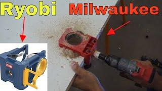 Milwaukee door lock installation kit VS Ryobi - review