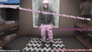 How To Obtain & Save Pink Joggers/Helmet After Patch 1.50 |GTA 5  How To Save Adversary Mode Outfits