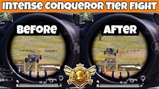 Intense Final Circle Fight In Conqueror Tier! | PUBG Mobile | Mr Spike