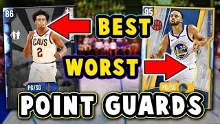 TOP 5 BEST/WORST VALUE POINT GUARDS in NBA 2K20 MyTEAM!