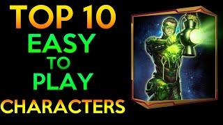 TOP 10 EASY TO PLAY CHARACTERS INJUSTICE 2 MOBILE