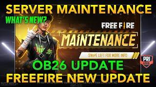 FREEFIRE OB26 UPDATE   SERVER MAINTENANCE   NEW WEAPON MAG7   AWM GLITCH & CHRONO ABILITY CHANGE