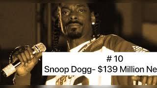 Top 10 Richest Rappers in the World|| Who is the number one?