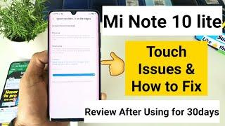Mi note 10 lite touch issues quick fix review after one month of usage