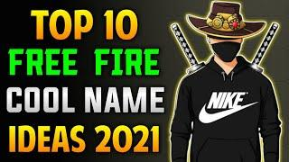 Top 10 Cool Names For Free Fire    Top 10 Unique Names For Free Fire    Top 10 Attitude Names For FF
