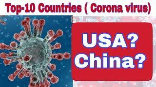 Top-10 Countries According to Corona-virus Worldwide ( Corona virus report ) COVID-19 Report