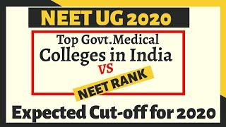 Top Government Medical College Vs Neet Rank|Expected Cutoff Marks For Top Government Medical College