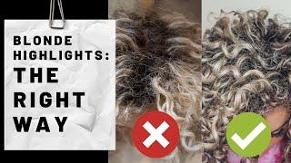 Curly Ash Blonde Highlights: The Right Way *ASMR Vibes*