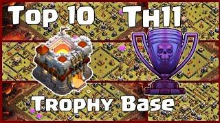Latest Top 10 Th11 Legend League Base Trophy Base War Base CWL Base With Links| Clash of Clans 2019