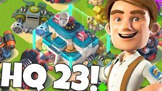 UNLOCKING HQ 23 IN BOOM BEACH! New Update is HERE!
