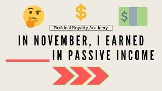 My November KDP Low Content Book Earnings (PROFIT) - Over 1000 Books Sold - Passive Income 2020
