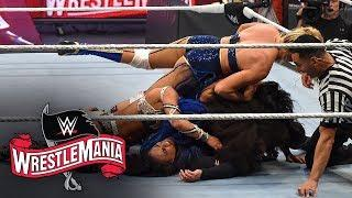 Four Superstars eliminate Tamina: WrestleMania 36 (WWE Network Exclusive)