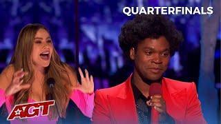 EMOTIONAL Golden Buzzer Jimmie Herrod Gives Sofia Vergara GOOSBUMPS on AGT Live Stage