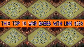 Townhall13 Top 10 War Bases With Link In Clash Of Clans