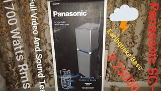 PANASONIC SC-UA7 | BEST PARTY SPEAKER | BLUETOOTH EARTHQUAKE BASS| ₹ 25000|8 Speaker| 2 Woofer |