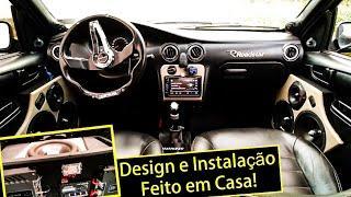 """Olha esse Celta! Amps Banda, Sub FB 15"""" 850W, Process Stetsom e Fonte Usina"""