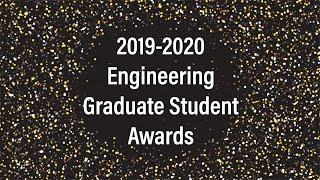 2019-2020 Engineering Graduate Program Awards
