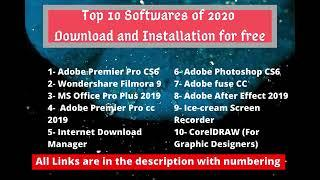Top 10 Softwares of 2020   Download and Installation for Free