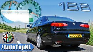 Alfa Romeo 166 3.0 V6 ACCELERATION TOP SPEED & SOUND by AutoTopNL