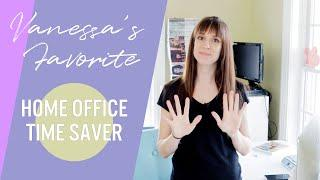 My TOP Time Saving Tip for Working Moms or any Work from Home Job | Home Office Setup