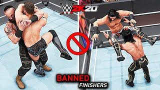 WWE 2K20 Top 10 Finishers BANNED By WWE