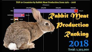 Rabbit Meat Production Ranking | TOP 10 Country from 1961 to 2018