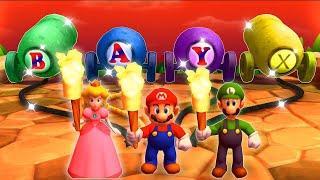 Mario Party The Top 100 Minigames - Mario Vs Luigi Vs Peach Vs Waluigi (Master CPU)