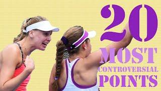 Top 20 Controversial Points in WTA History