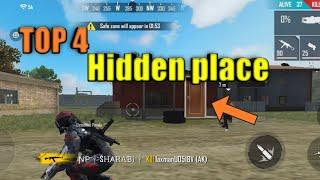 Top 4 hidden place's | hidden places in free fire | free fire | hidden places in free fire bermuda