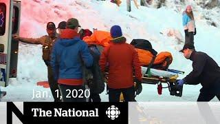 WATCH LIVE: The National for Wednesday, Jan. 1 — Teen climber rescued on Mt. Hood; Protests in Iraq