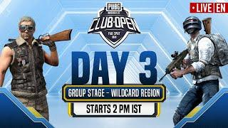 [EN] PMCO Wildcard Group Stage Day 3 | Fall Split | PUBG MOBILE CLUB OPEN 2020