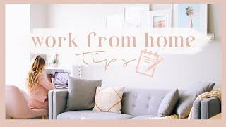 10 TIPS FOR WORKING/STUDYING AT HOME | How to stay productive + focused! ✨