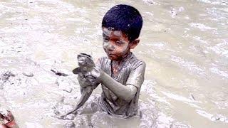 Kids Hand Fishing | Amazing Boy Catching Giant Big Catfish by Hand