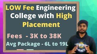 LOW Fees Engineering College with HIGH Placement 2020- Admission | Placement | Fees