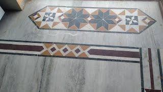 Photo marble hand door mats hand show patti design install