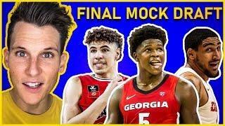 2020 NBA Mock Draft 3.0 [NBA DRAFT LOTTERY REACTION]